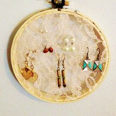 "Add some feathers and beads for a ""Dream Catcher Earring Holder"" -- RA Program"
