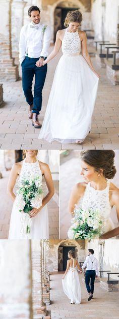 wedding dress, white lace long wedding dress, 2017 wedding dress