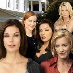 Desperate Housewives - Season 1 promo shot of Teri Hatcher & Eva Longoria Desperate Housewives, Bree Van De Kamp, Marcia Cross, Felicity Huffman, Drama Tv Series, American Series, Eva Longoria, Celebs, Celebrities