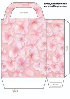 Coral hydrangea gift bag on Craftsuprint designed by Stephen Poore -