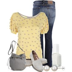 A fashion look from February 2013 featuring Darling tops, Carlos Miele jeans and TOMS loafers. Browse and shop related looks.