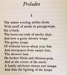 Ts Eliot Short Poems 3