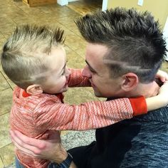 Today I told my son whatever haircut he wanted I would get the same thing! Well, here we are. We are now lightning buddies :)