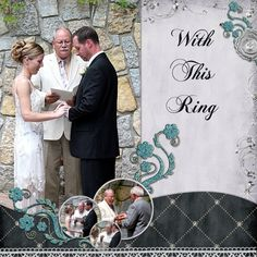 With This Ring wedding scrapbook layout idea. Gallery : A Cherry On Top