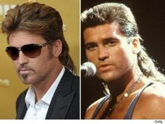 Billy Ray Cyrus, without and with Mullet! Billy Ray Cyrus, Goddess Hairstyles, Mullets, Country Music, Role Models, Cowboy Boots, The Past, Mens Sunglasses, Singer
