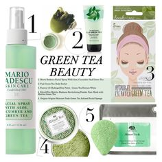 """""""Tea Time: Green Tea Beauty"""" by merrygorounds ❤ liked on Polyvore featuring Fuji, Forever 21, Origins, Mario Badescu Skin Care, BeautyTrend, Beauty, polyvoreeditorial and GreenTeaBeauty"""