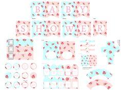 FREE shabby chic baby shower printable via www.babyshowerideas4u.com