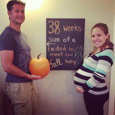 pumpkin ~ 38 weeks pregnancy chalkboard