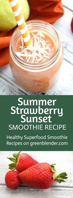 Summer Strawberry Sunset on Green Blender