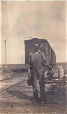 RP, Railway Worker, Crows Nest, Alberta, East Of Sparwood, B.C., Canada, 1900-1910s
