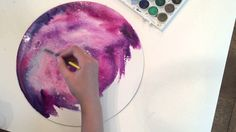 "How to Paint a Watercolor ""Galaxy"" - Tutorial by Giovana Forrest"