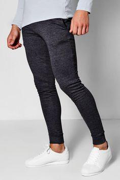 boohoo - Super Skinny Joggers - $12.50 Mens Joggers Sweatpants, Skinny Joggers, Super Skinny, Skinny Fit, Drop Crotch, Famous Brands, Stylish Men, Fashion Forward, Lounge Wear