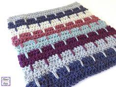 Ravelry: Spiked Stripes Square pattern by Fiber Flux / Jennifer Dickerson