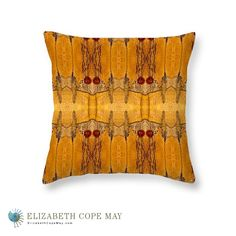 High Desert Butterflies throw or accent pillow.  Southwest style. More pillows at: ElizabethCopeMay.com