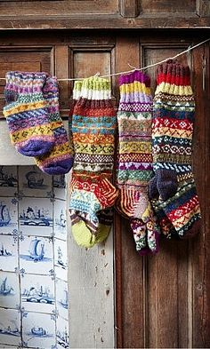 Knitting. Now I can't actually do Fairisle knitting yet, nor socks for that matter. But one day, my friends, one day...