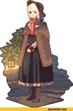 plain doll,pixel art,Bloodborne,games