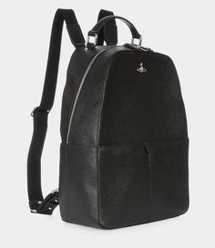 ee6e8d0516f1a Kent Backpack Black. Sac, Sac À Dos Noir, Vivienne Westwood, Véritable Cuir  ...