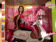 Barbie Doll with Vespa motorcycle Collector Limited Edition Rare Vespa Motorcycle, The Collector, Barbie Dolls, Camping, Friends, Car, House, Ideas, Campsite