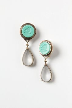 Carved Cameo Drops - into Greens