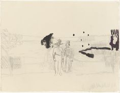 Peter Doig, Untitled, Pencil and ink on paper Peter Doig, Chelsea School Of Art, Moma Collection, Port Of Spain, Travel Sketchbook, List Of Artists, Male Figure, Silhouette, Large Painting