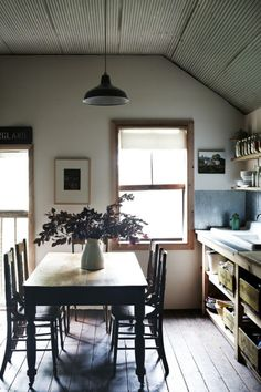 This IS my dream kitchen.. I want to FEEL this in my kitchen...  a paper aeroplane