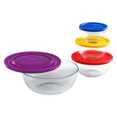 Pyrex® 8-Piece Sculpted Mixing Bowl Set