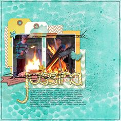 Tracy Martin Designs: Summer Sunshine, Handcut Bits #3; fonts: DJB I Feel Quirky
