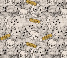 zodiac_la_luna_copper fabric by holli_zollinger on Spoonflower - custom fabric