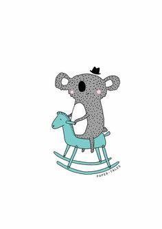 Jack Koala On Rocking Horse