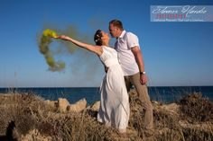 We had great fun with our Smoke Bombs on the Algarve beach...we want to wish this special couple a very happy and long future together....