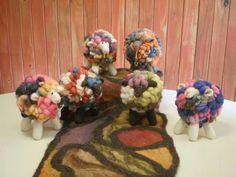 Felt wool XL Sheeps,made by me ,Emi Porzia,Fieltro ,Ovejas XL,ARGENTINA. Woolly sheeps.