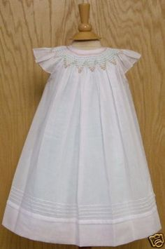 $62 Will'beth Smocked Angel Sleeved Easter dress. I just loved the zig-zagged effect throughout the smocking.