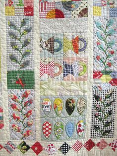 Detail 2 by Be*mused, via Flickr i'm generally not a big fan of applique quilts.  this might be an exception.
