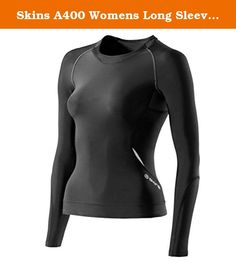 Skins A400 Womens Long Sleeve Compression Top Black XLH. Skins sport products are ground breaking, body moulded, gradient compression performance equipment with built in BioAcceleration Technology which will enhance your performance in training, competition and recovery and give you an edge over your competition. Skins wrap and support key muscle groups, which reduces vibration and helps maintain muscle alignment. The fabrics also draw moisture away from the skin, keeping you dry. SKINS…