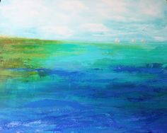 The artist of this lovely seascape gifted me with a print of this painting.  I can't believe it!  Please support her if you can.  Her art is amazing.