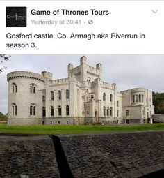 Game of thrones. Armagh. Northern Ireland.