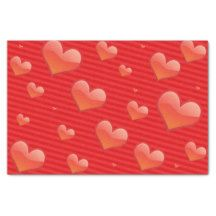 Hearts and Stripes Valentine's Day Tissue Paper