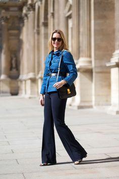 Joyann King in a Trademark jacket, Derek Lam pants and Celine bag