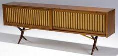 32: GEORGE NAKASHIMA Very rare walnut cabinet with dove : Lot 32