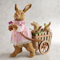 Heidi & Babies Natural Bunnies in Cart | Pier 1 Imports