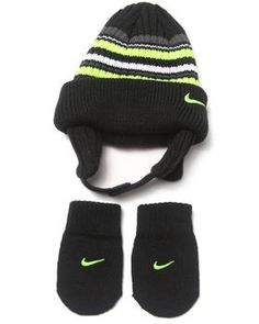 Buy Striped Beanie  amp  Mittens Set (Infant) Boys Sets from Nike. Find ee210a7f2cd4