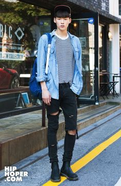 Street Fashion; I like the pants and boots. Not a fan of the shirt/jacket combo. Doesn't pop enough.