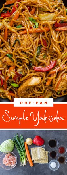 Delicious yakisoba is a perfect dish for a family dinner. This yakisoba is full of flavors and veggies, it is perfect for any weekday and you can make it in one pan. This dish is the easiest crowd-pleaser, perfect for any day. Yakisoba is simple and delicious, perfect for any day. #yakisoba