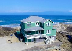 $1319 (5) -- older house -- Ocean Dream | Corolla Rentals | Outer Banks Rentals Vacation Places, Dream Vacations, Corolla Outer Banks, Beach Cottage Exterior, Oceanfront Vacation Rentals, Beach Cottages, Beach Houses, Outer Banks Vacation Rentals, Rental Property
