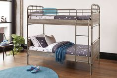 Industry Single Bunk Bed Frame by Nero Furniture Kids Bedroom, Master Bedroom, Bedroom Decor, Single Bunk Bed, Harvey Norman, Grey Wash, Linen Bedding, Bed Frame, Industrial Style