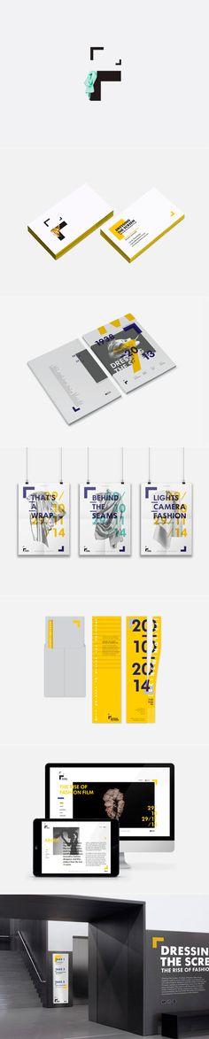 identity / dressing the screen / festival #branding #design