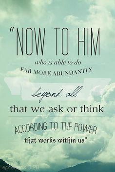 Ephesians 3:20