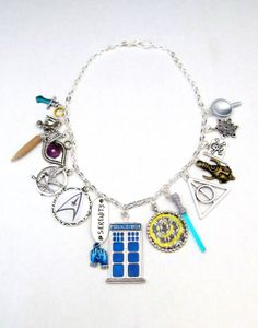 Fandom Explosion  A Multi Fandom Necklace by MazikeenStudios, $38.00 - want!!!!
