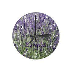 Lavender Field Wall Clock #flowers #nature #herbs #clocks