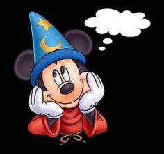 Sorcerer Mickey coming up with an idea